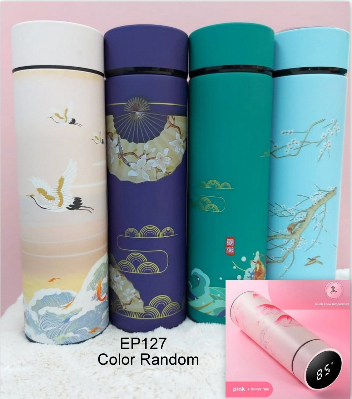 LED Touch Display Insulated Stainless Steel Vacuum Flask