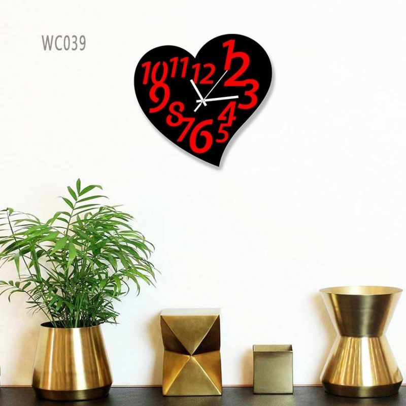 Colorful Wooden Board Wall Clock
